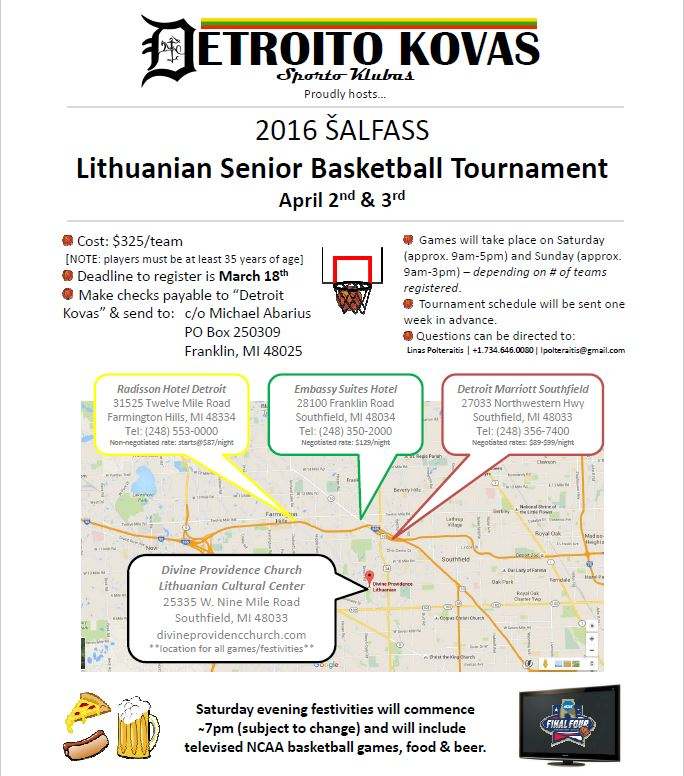 Lithunian Senior Basktball Tournament